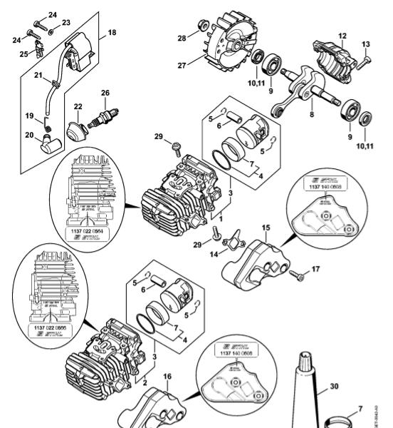 Cilindru cu piston, Sistem de aprindere