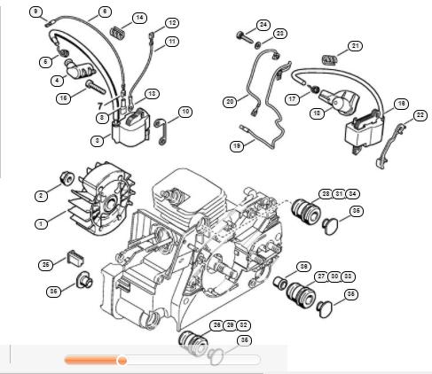 Sistem de aprindere Stihl MS 170