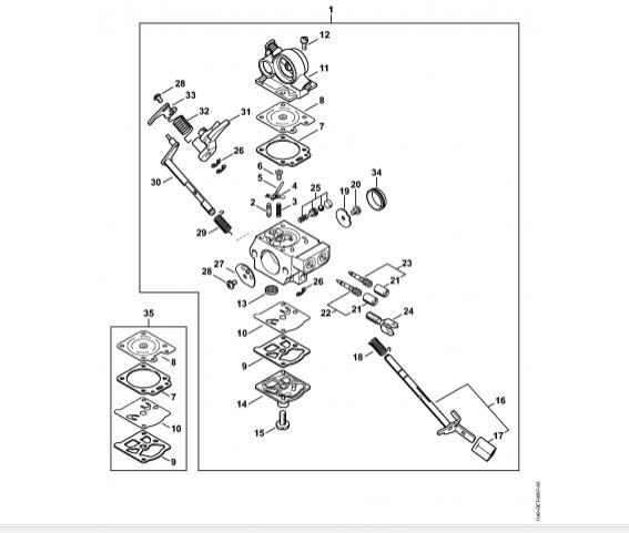 Carburator STIHL MS 391