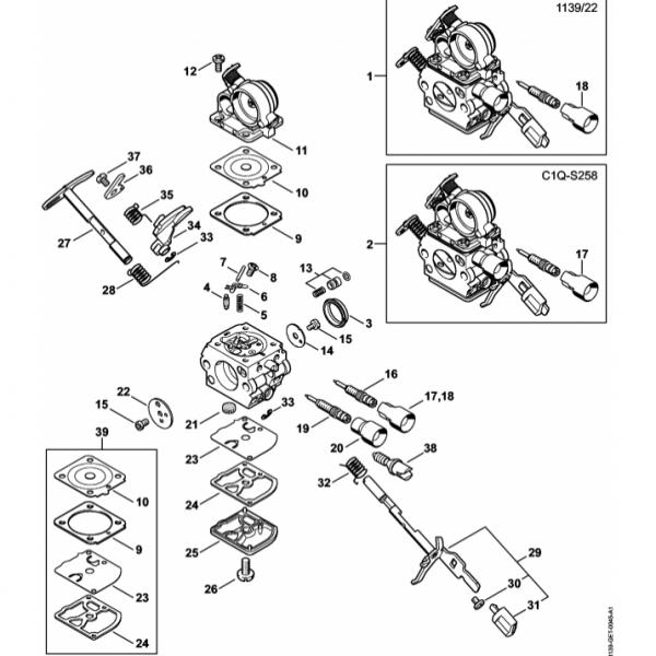 Carburator Stihl MS 211
