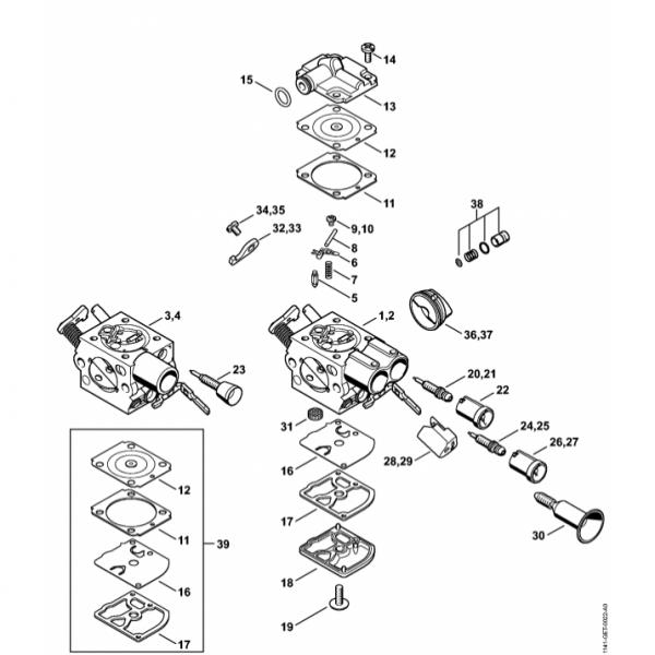 Carburator Stihl MS 271