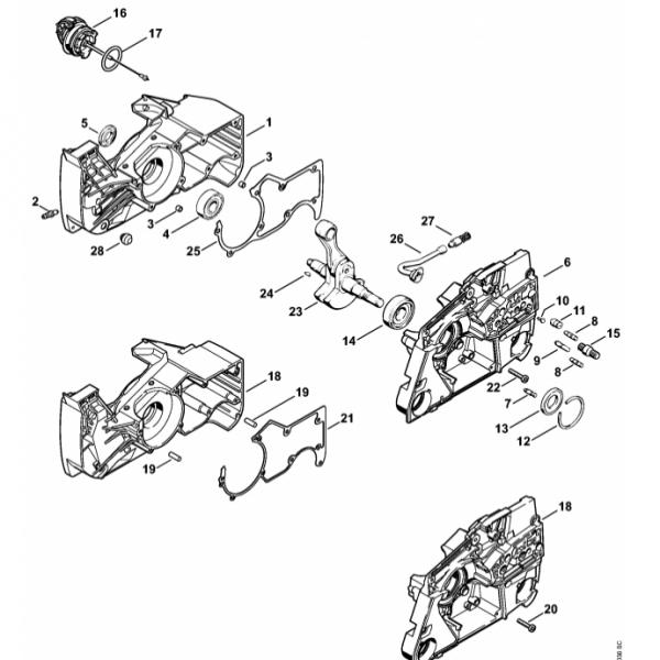 Carter Motor Stihl MS 880