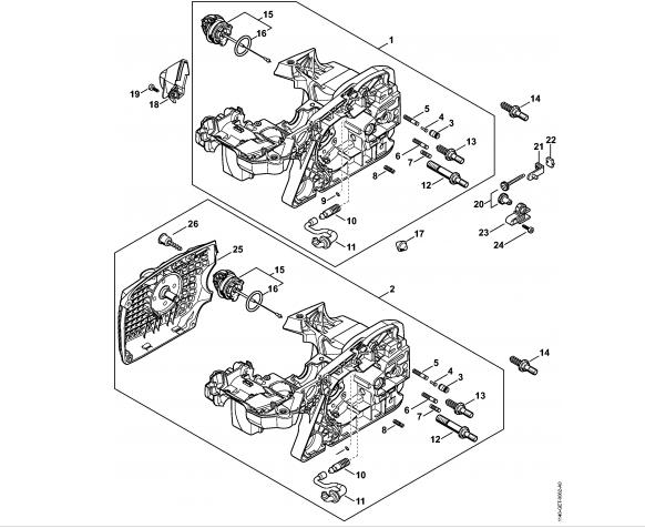 Carter motor STIHL MS 311