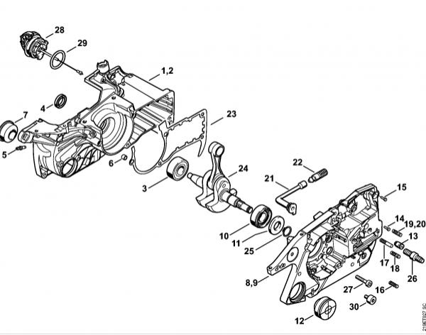 Carter motor STIHL MS 441