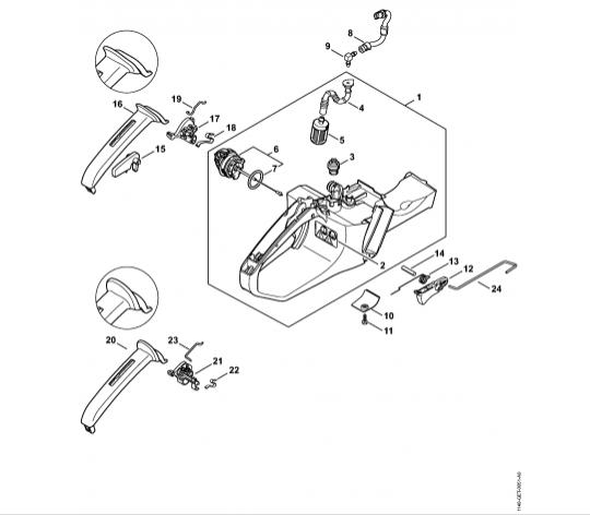 Carter rezervor, Acceleratie STIHL MS 311