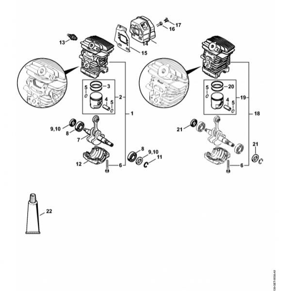 Cilindru Stihl MS 211