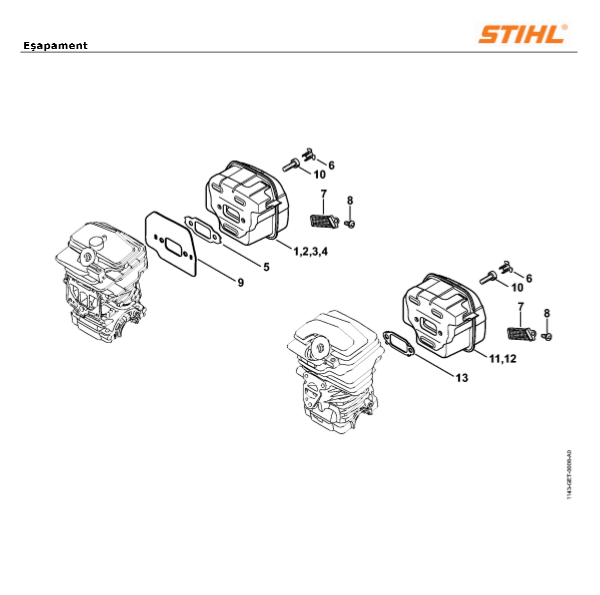 Esapament Stihl MS 231