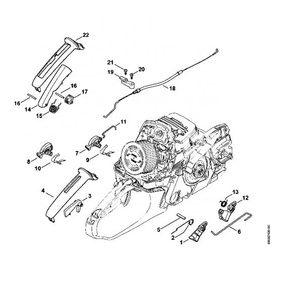 Maneta acceleratie Stihl MS 261
