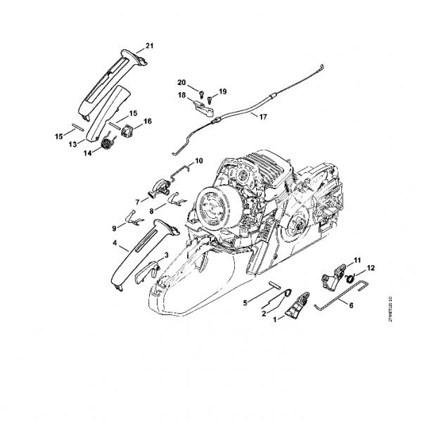 Maneta acceleratie Stihl MS 271