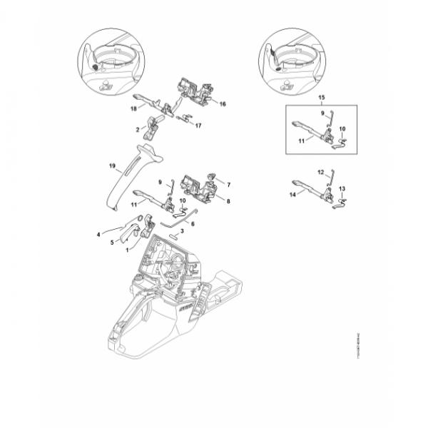 Maneta acceleratie Stihl MS 661