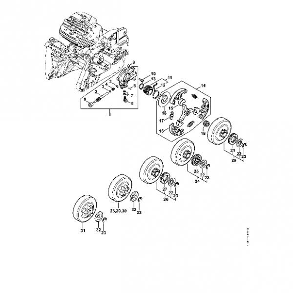 Pompa Ulei, Ambreiaj Stihl MS 661