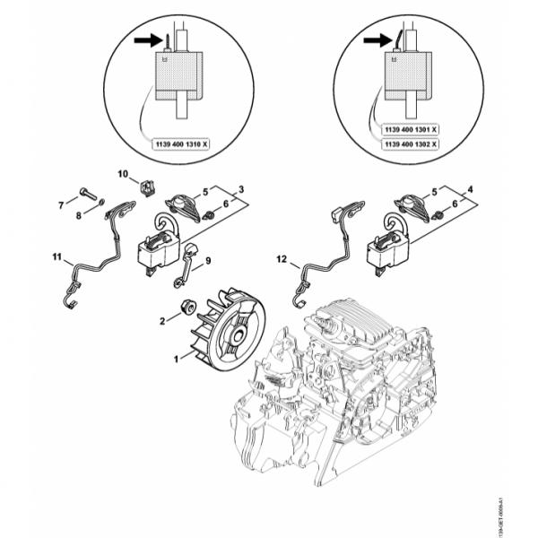 Sistem aprindere Stihl MS 211