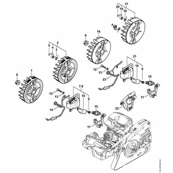 Sistem aprindere Stihl MS 231