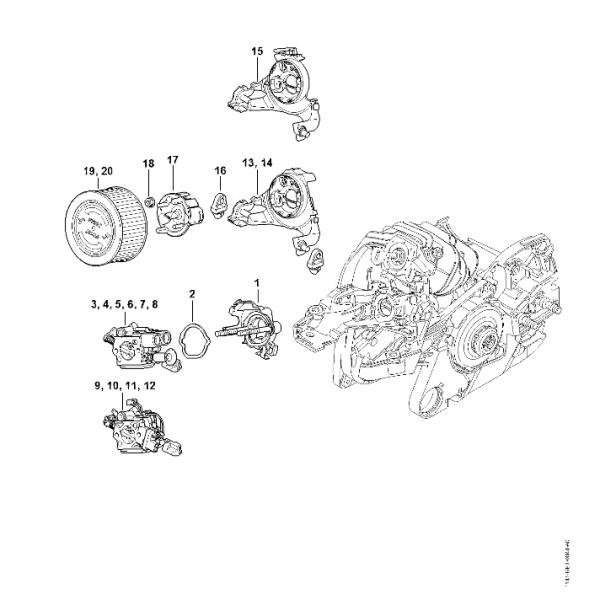 Suport Carburator, Filtru Aer Stihl MS 261