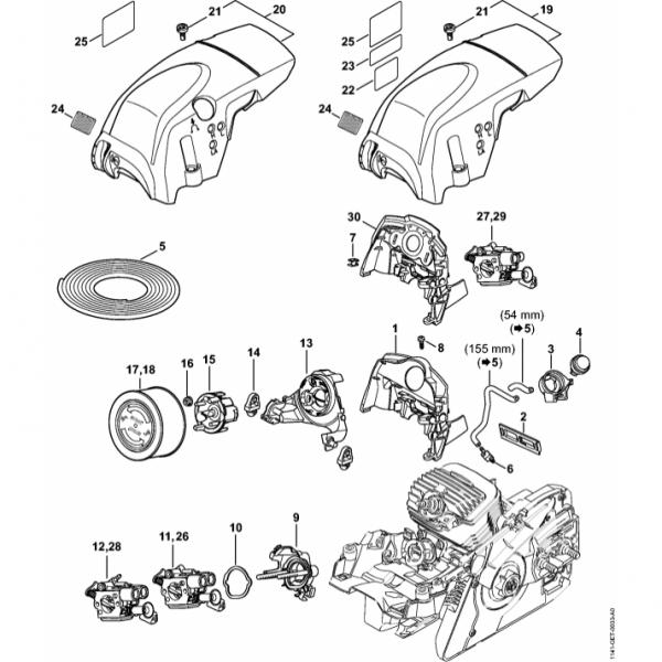 Suport Carburator, Filtru Aer Stihl MS 271