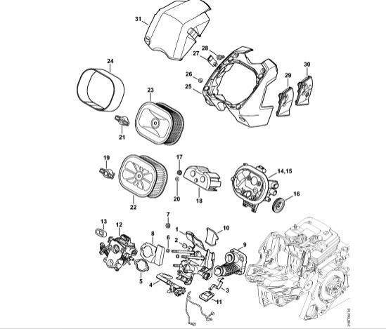 Suport carburator STIHL MS 441