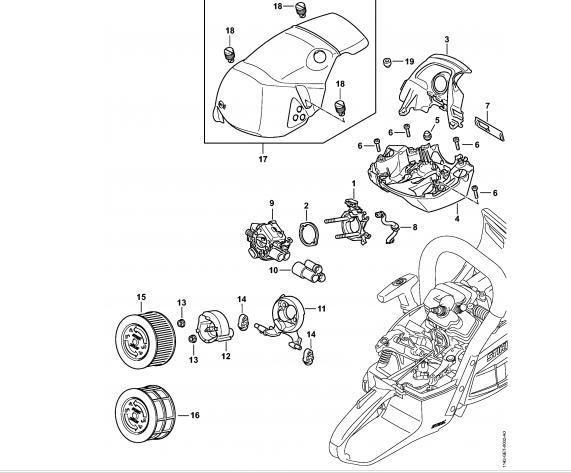 Suport carburator STIHL MS 462